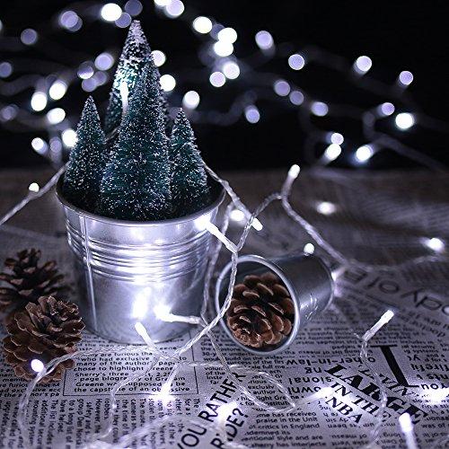 HJ® 400 LEDs 40M Kaltweiß LED Lichterkette Weihnachtslichterkette 31V String Außenlichterkette für Xmas Halloween innen&außen Garten