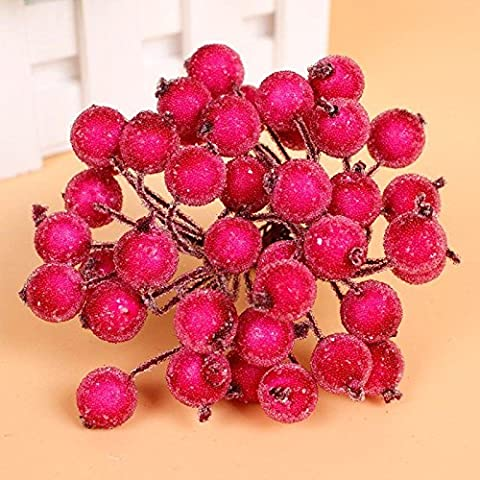 Starworld Christmas Artificial Fruit Berry Holly Flower Pick for DIY Head Floral Home, Wedding, Party, Birthday Decoration / Rose