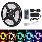 Led-Streifen-5m led Strip, Coskip led Stripes led Strip led Streifen wasserdicht led Band Farbwechsel inkl. Netzteil Fernbedienung Empfänger und Stromkabel