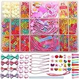 V-BEST Perline Fai-da-Te Creazione di Gioielli Kit per Ragazze - (Multi-Color Trasparente)