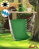 2 x Hängesessel Hängesitz-Liegesessel, stabile Gartenliege, klappbare Sonnenliege -grün dunkelgrün-Naturholz Saunaliege, tragbar, Strandliege, hochwertig bequem und stabil, Sonnenschutz, Dreibeinliege faltbar, verstellbare Klappliege, anthrazit-metallic silber, Strandliegen, Sonnenliegen, Liegestühle, Gartenstühle, Picknickliegen, Gartenmöbel Holz, Feldbetten