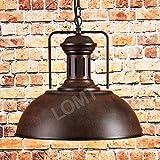 Farmhouse Rustic Bronze Pendant Light Barn Lamp with Adjustable Chains