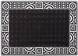 CarFashion 270780 PUR|DuraClean – Fussmatte | Türmatte | Fußabtreter | Schmutzfangmatte | Sauberlaufmatte | Eingangsmatte | für Innen und Aussen | Graphit-Anthrazit-Metallic Oberfläche | Scraper-Noppen | Größe ca. 78 x 55 cm