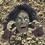 Prextex.com Halloween Dekoration, aus der Erde steigender Zombie zur Garten-Dekoration für Halloween