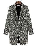 Winterjacke Damen Long Blazer Mantel Jacke Trenchcoat Outwear L