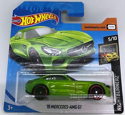 Hot Wheels 620m15 Mercedes-AMG GT Metallic Green 5/10 Nightburnerz 264/365 (Short Card)