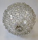 Lampenglas 6452 Ersatzschirm Schirm Glas Lampenschirm Ersatzglas für Pendelleuchte Drahtkugel Kugelglas