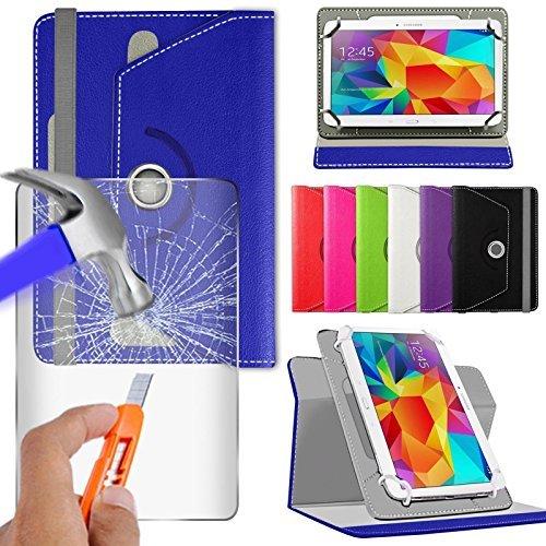 """Preisvergleich Produktbild fürN4U Online - Various Buntglas schutzhülle & Rotierend Pu Leder Schutzhülle For Huawei mediapad M2 10"""" Tablette - Blau"""