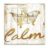Die Stupell Home Decor Kollektion Calm Badewanne Gold beplankten Look Wandschild