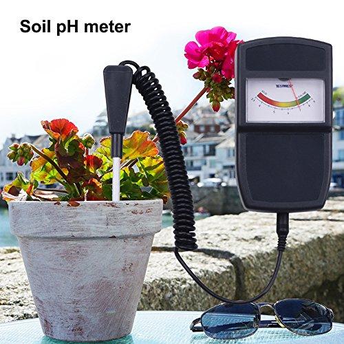 DOMI® Aufgeteilter Bodentester tragbarer Bodentester Feuchtigkeitsmesser PH Wert Messgerät Bodenprobe Garten Boden PH Wert messen PH Wert Tester