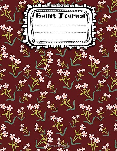 Bullet Journal: A4 - 156 paginas - Halloween - Flores - Decoracion floral - Estampado de flores - Patron sin costuras - Seamless Pattern (156 paginas ... punteadas y dot grid / bullet journal)