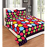 Cotton Queen Size Bed Sheet Set With KingSize Pillow Cases New Wonderful Design-Stain Resistant Breathable And Hypoallergenic -3 Piece (MultiColor) 90 X 100 Inch -by Ab Home Decor