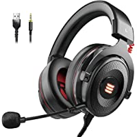 EKSA E900 Pro Gaming Headset Xbox One Headset with 7.1 Surround Sound, PS4 Headset Noise Cancelling Over Ear Headphones…