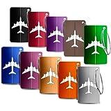 Bagages Étiquettes Aluminium Avion modèle Voyage Bagages étiquettes Valise avec Cordes en Acier Inoxydable 10 Pièce Mix Coule