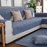 Baumwolle Gesteppte möbel protektoren Für haustier hund,Anti-rutsch Schnittsofa werfen abdeckung pad Atmungsaktive Sofa werfen slipcover Slip cover Für l U-form sofa Für alle saison-1 stück-B 28x47inch(70x120cm)