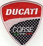 Aufnäher Bügelbild Aufbügler Ducati Motorrad Corse Rally