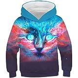QZYT-Sweatshirt Ocio para niños Suéter con Capucha Flame Horse Impresión en 3D Sudadera con Capucha para niños Street Ropa pa
