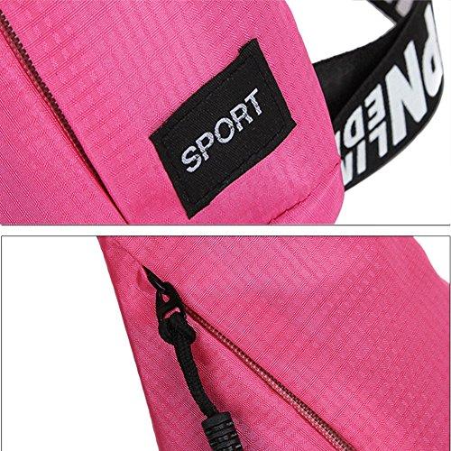 Reefa Mode Freizeit Wind Outdoor Sport Männer und Frauen Multifunktions Brust Pack Rosa