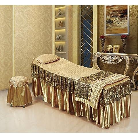 Beauty bedspread Colcha/cubrecama/belleza de lujo y Spa las fundas de cuatro set/high-end masaje belleza