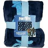 Fortnite Officiële Shuffle Fleece Throw | Blue Battle Royale Design Super zachte deken | Perfect voor elke slaapkamer, 100% p