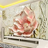 Ohcde Dheark Custom 3D Stereo Blumen Wandbild Fototapete Schlafzimmer Wohnzimmer Fernseher Sofa Hintergrund Wandbild Hom