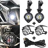 Faros antiniebla auxiliar del LED + El escudo + arnés de cableado para BMW R1200GS ADV F800GS F650 LC ADV KTM 1190 1190R 1290