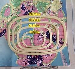 BuyWorld 18x26cm 13x20cm 10x15cm adjustable plastic hoop square embroidery for cross stitch handcraft DIY handmade needlework craft free