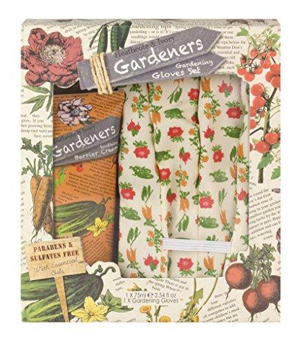Heathcote & Ivory Jardineros Jardinería Set con Barrera Cream 75ml y algodón...