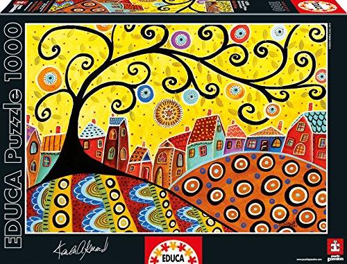 Puzzles Educa - Puzzle Blooming Village, Karla Gerard, 1000 piezas (16296)