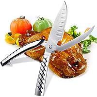 AlfaView Forbici da Cucina Professionali  Trinciapollo Multifunzione in Acciaio Inossidabile  Kitchen Scissors con Caricato a Molla Maniglia  per Pollo  Osso  Pesce  Apribottiglie  Verdure e Grill