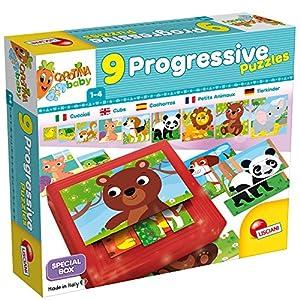 Lisciani Giochi 58433-Carotina Baby Progressive Puzzle Puppies