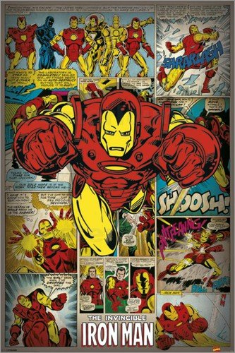 Marvel-Comics-Iron-Man-Retro-Pster-61-x-91cm