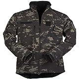 Mil-Tec Men's Softshell Jacket SCU 14 Multitarn Black