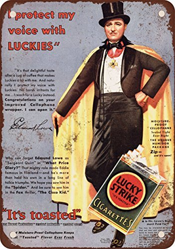 1931-edmund-lowe-para-lucky-strike-cigarrillos-reproduccion-de-aspecto-vintage-metal-signs-12-x-16-p