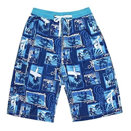 Herren Blümchenrock Shorts Boardshort Beach Shorts Reine Baumwolle Herren Tide color09