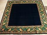 AHMEDANI Mid Night Gabbeh Afghane Dunkel Blau Quadratisch Bereich Teppich Teppich von Hand Geknotet (6,5x 6,8) '