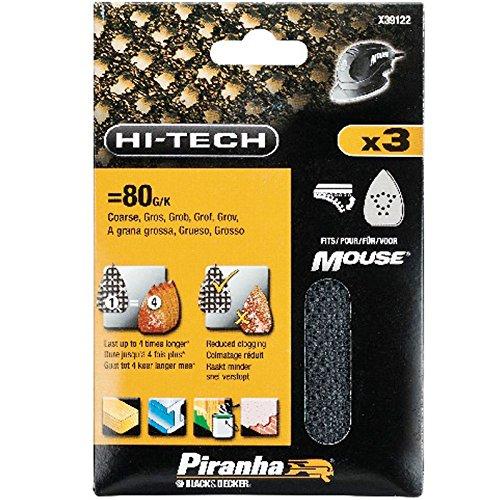 Preisvergleich Produktbild Black&Decker Mouse-Schleifgitter sortiert: K80,K120,K240, 1 Stück, X39137-XJ