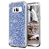 OKZone Galaxy S8 Plus Hülle, Luxus Glitzer Bling Design Weich TPU Bumper Case Silikon Schutzhülle Handy Tasche Rückseite Hülle Etui Cover TPU Bumper Schale für Samsung Galaxy S8 Plus (Blau)