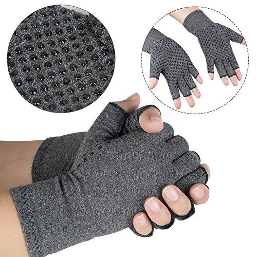 enshey anti-arthritis Kompression Handschuhe für Damen Herren, Kompression Therapie und Wärme zu erhöhen Durchblutung Schmerzen und...