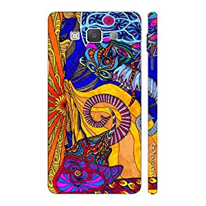 Enthopia Designer Hardshell Case Abstract Elephants Back Cover for Samsung Galaxy E7
