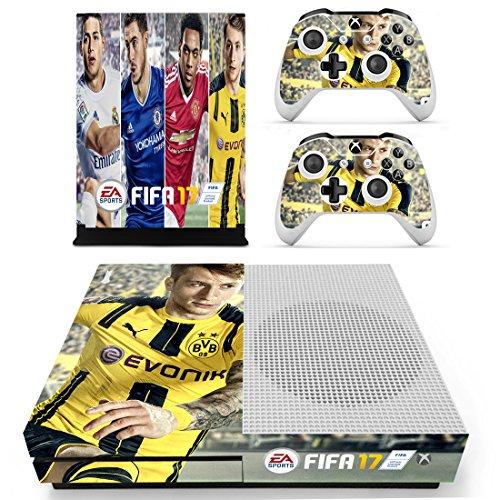 Preisvergleich Produktbild XBox One Slim + 2 Controller Aufkleber Schutzfolien Set - Fifa 17 / One S