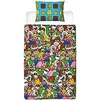 Super Mario Duvet Cover, Multi-Coloured, 200 x 130cm