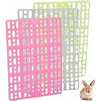 Licogel Rabbit Cage Mat 3PCS Healthy Protective Hollow Reusable Bunny Floor Mat Guinea Pig Chinchilla Hamster Healthy…