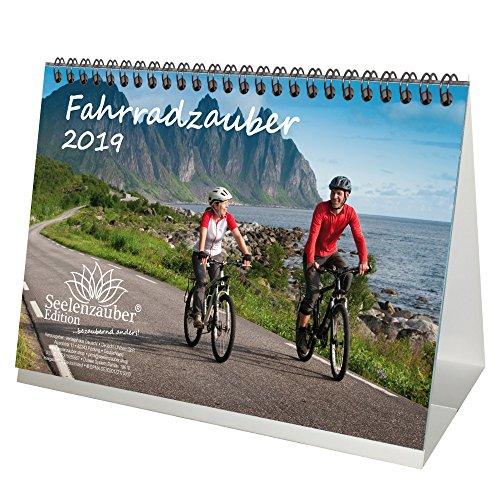 Calendrier de vélo – DIN A5 – Calendrier de table / calendrier 2019 – Sport – VTT – Vélo – Trekking – Selle – équipement – Tableau de plâtre – Ange – Set cadeau avec 1 carte de vœux et 1 carte de Noël – Edition Seelenzauber