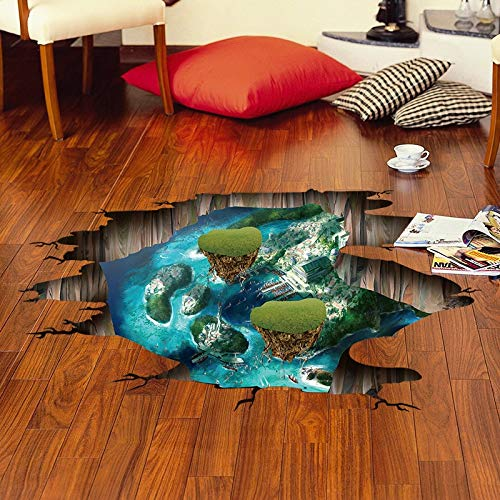 r Fantasy Island 3D Wall Sticker Removable Home Decor For Kids Rooms Floor Stickers ()