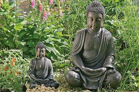 Skulptur / Statue Gartendeko meditierender Buddha 70 cm hoch Asiastyle