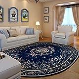 DK-CJBYC &Dekorativer Teppich Teppich Wohnzimmer Schlafzimmer Restaurant Ovaler Teppich Waschbarer Teppich - Umweltfreundlicher, geschmackloser, Rutschfester Pastoralteppich Geometrischer Teppich