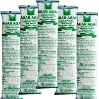 Mira Marine Product Agar Agar China Grass Strips Color :White,Per Pack Of Weight: 10Gm,Pack Of 5