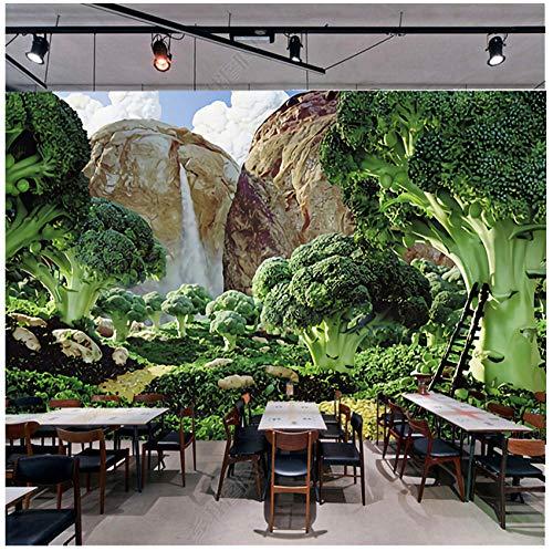 ete 3D Grün Frisch garten Gemüse Wandbild Tapete Wohnzimmer Sofa Hintergrund Moderne Nahtlose Wandverkleidung ()