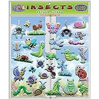 Insects & Bugs - Adhesivos de Espuma para Ventanas y Gel, Reutilizables, diseño de Mariquitas, Mariposas y más para Habitaciones, Paredes, Ventanas, aulas, Aviones, Viajes